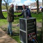 Primeur voor @bfutrecht: een stroompunt op festivalterrein Transwijk ipv diesel-aggregaat. #bevrijdingsfestival https://t.co/xw6Kix0HGM