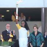 Sou negra, mulher, brasileira e atleta. A emoção de representar o povo brasileiro na chegada da chama olímpica... https://t.co/XSIS04nt1n