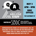 Small business? Questions about working with the City? Tonights meeting is for you! https://t.co/s0nf1ZyJGi