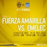 Acércate a nuestros principales puntos de venta para adquirir tus entradas y disfrutar @FuerzAmarillaSC vs @CSEmelec https://t.co/AsU9bBYXnZ