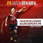 Hatem Ben Arfa (@ogcnice) élu joueur de l'année par nos internautes https://t.co/8fFeYu1wNw https://t.co/l6J2978b5T