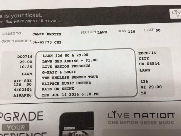 Surprised sav today w/ g eazy tickets ((-; Happy early birthday bff
