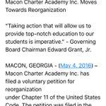 Breaking: @MaconCharter files for chapter 11 bankruptcy @13wmaznews https://t.co/rM6i0jjsdx