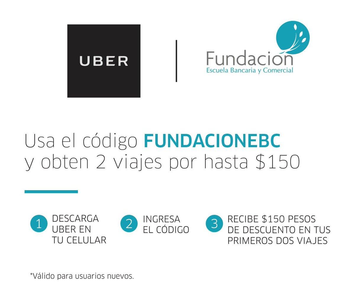 ¡Comparte el código con tus amigos! Por cada viaje Uber hará una donación a Fundación EBC. https://t.co/1UcNxvFGKt