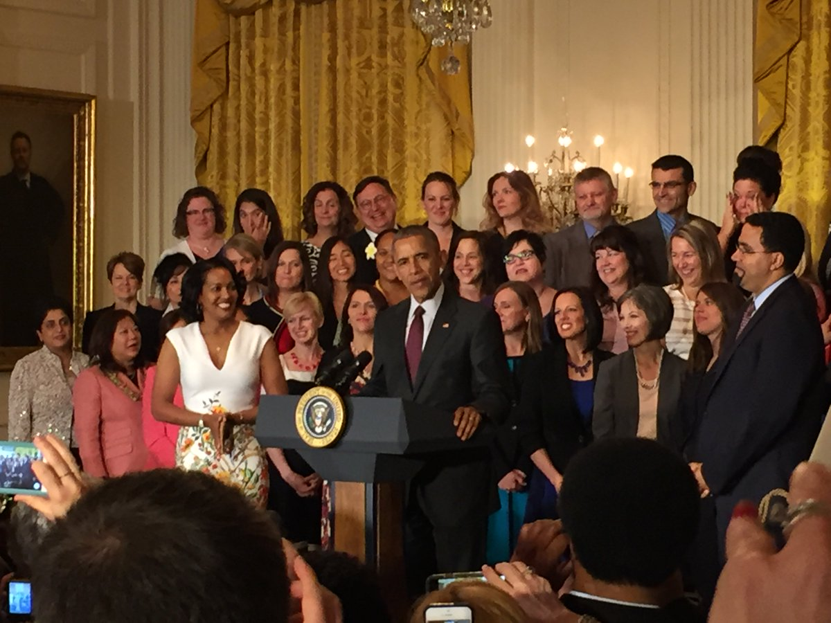 .@POTUS addresses the National & State Teachers of the Year at today's White House ceremony. #ThankaTeacher #NTOY16 https://t.co/gtvAbWE3sG