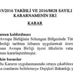 """""""Schengen ülkeleri"""" Türkiyeye vizeyi kaldırınca, Türkiye """"tüm"""" AB ülkelerine vizeyi kaldıracak. https://t.co/7RNvSkxRnm"""