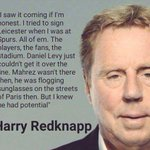 CLASSIC: Harry Redknapp on Leicester City. https://t.co/0LixG8AQjt