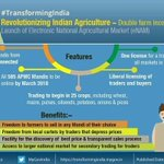 553. #TransformingIndia Revolutionizing Indian Agriculture: Double incomes in 5 years Launch of eNAM @narendramodi https://t.co/YyrQNJxPeH