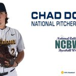 Congratulations to Chad Donato, named the @NCBWA National Pitcher of the Week!  https://t.co/BgsxLL0Mdw https://t.co/a3jaqFzX4c
