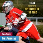 Jake Withers of @OhioState_MLAX named 2016 men's #B1GLax Specialist of the Year. https://t.co/1tfl7117ms
