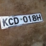 20:41 Lost but found front number plate. Contact me on 0721246860- was picked along Israel Embassy off ngong road https://t.co/NwMf1tbuE7