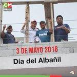 Felicidades a todos los albañiles en su día!! Su trabajo nos ayuda a construir una mejor comunidad! #DiaDelAlbañil https://t.co/pgNNmdnaKb
