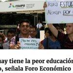 La raíz de todos los problemas en el Paraguay es la educación https://t.co/B9dtOVCnWm