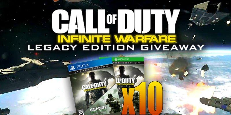 I'm giving away 10 copies of Infinite Warfare LE!  RT+Follow to enter, more entries here: https://t.co/J1euQerZZ7 https://t.co/9yz4xBgVle