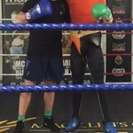 Me and Rambo had a good spar tonight! @mikeramabeletsa training going great for 4th June #EBU #Boxing #liverpool X https://t.co/slOafzkLR6