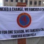 Aston Villa fans will have this banner at Villa Park on Saturday. #avfc https://t.co/tVML3IKtul