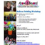Want to learn how to twist Balloons? Beginner Balloon Twisting Workshop May 14. #balloons #balloontwisting #ptbo . https://t.co/EmEgHafhha