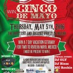 The Biggest #CincoDeMayo Party in Miami this Thursday, its gonna be #lit #Miami #Fiesta #Chevys #Party #Cerveza https://t.co/ZtE6Y4U5OZ