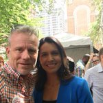 Our sister @TulsiGabbard and our brother @RobinHoodBilly in Portland campaigning for their brother @BernieSanders. https://t.co/PYvByuu0km