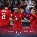 There goes the whistle. #FCBayern go into the break having levelled the tie up through @XabiAlonso! #FCBAtleti 1-0 https://t.co/kDemU3uh39