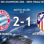 ⚽️ BUUUUUUUUTT DE LEWANDOWSKI !!!  Bayern  2-1  Atlético https://t.co/mes4TmdbsT
