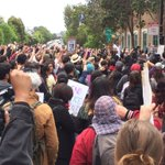 Huge crowd rallying, about to march on city hall. #frisco5 https://t.co/Ge0NyibWpL