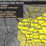 5/3/16: Severe Thunderstorm WATCH has been issued for parts of Central Georgia until 10 PM. #gawx https://t.co/1AOL3tUbmE