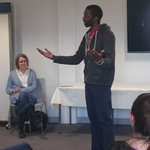 Tawona performing his poetry, from Zimbabwe via Glasgow in #bristol @Bristolconnect. Thank you @rm_borders https://t.co/7YYYM65UPh
