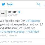 Und der Tweet des Spiels. Sagt viel über Sport1 aus. #FCBAtleti #FCBATL https://t.co/gLsk6HE5Uh