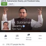 RT @AShetty84  Dr @Swamy39 now has an official Facebook page  https://t.co/EbmjuXsE5o  Share & like!  #SwamyRocks https://t.co/h5vmlbl5TM