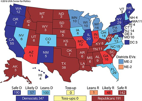 Where the Clinton-Trump matchup starts in our Crystal Ball Electoral College ratings https://t.co/IpIryVRJFZ