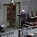 Clive Palmer reaches for the exit https://t.co/BbigRIz6JA
