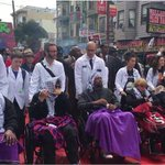 Five Hunger Strikers March To City Hall, In Wheelchairs, Snarling Civic Center Traffic https://t.co/Y60SeZyYaO https://t.co/nWrhK5cac4