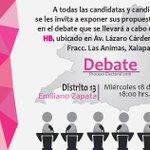 #EleccionesVeracruz #Debates #DiputadosDistritales #EmilianoZapata @ople_Ver https://t.co/1l35nEl3wy