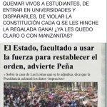 """""""EL ESTADO ESTÁ FACULTADO A USAR LA FUERZA"""" FRASE CELEBRE DEL REPRESOR @EPN #AtencoNoSeOlvida https://t.co/mXfulXQ2E5"""