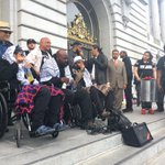 #Frisco5 #hungerforjusticesf hunger strikers leaving city hall, saying theyll continue until Chief Suhr is fired https://t.co/YmnJ67iWuo