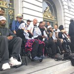 #Frisco5 #hungerforjusticesf march to city hall ends with strikers saying theyll continue until Chief Suhr is fired https://t.co/SmCGPbJxd1