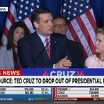 JUST IN: Ted Cruz drops out of presidential race https://t.co/1H4EquRzNO https://t.co/LfK0adQTBj