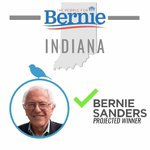 BREAKING: Bernie Sanders is the projected winner of the Indiana Primary! #FeelTheBern https://t.co/H0p9NZi5Hb