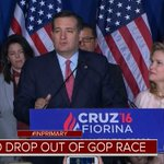HAPPENING NOW: @TedCruz officially drops out of the Republican presidential race. https://t.co/zVzJDgaIZy
