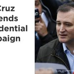 Ted Cruz suspends presidential campaign after #IndianaPrimary loss. https://t.co/2FLzmvZeFe
