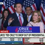 Ted Cruz officially announces that he is suspending his presidential campaign. https://t.co/AJgT94RhN6