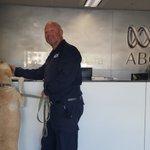 Thanks to Graham & now-retired police dog Kip for dropping by #Canberra @ChurchillTrust https://t.co/8PevZYWqbL