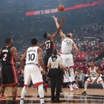 The @Raptors lead the @MiamiHeat at half 43-41. #NBAPlayoffs https://t.co/hL780BIY6l