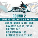 Reminder tonights #SJSvsNSH game is on @USA_Network. You can also listen on 98.5 @KFOX. https://t.co/QCnhKaj4yO