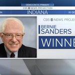 BREAKING: CBS News projects @BernieSanders wins Dem #INprimary: https://t.co/TR3aXAMx8O https://t.co/kpuwwxN34B