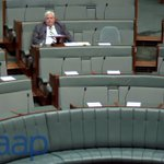 PUP Leader Clive Palmer waits to make an announcement in the House of Reps. #auspol https://t.co/FcFYIHUrRl