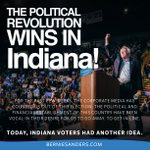 The political revolution wins in Indiana! Thank you. https://t.co/Ix7wutAw2g