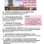 Venez nombreux demain à la journée souvenir Jean Masse organisée par les asso. Gombertoises #Marseille #13013 https://t.co/7frMluKHeY