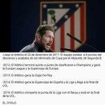 El Atlético de Madrid desde que el Cholo llegó. 5 títulos, y 2 finales de UCL en 4 años. https://t.co/RZsOiZUnMo